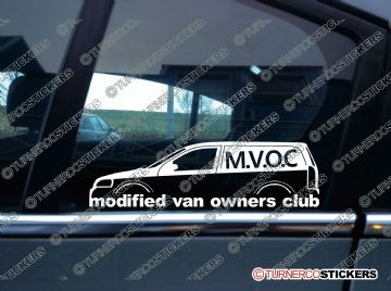 MVOC modified van owners club sticker - for Vauxhall Opel Astra G Van Mk4
